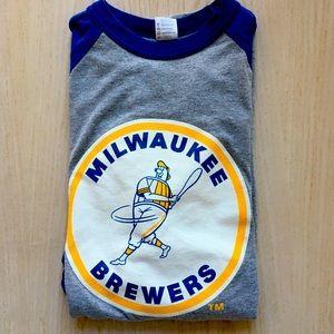 Augusta Milwaukee Brewers 3/4 sleeve tee XL